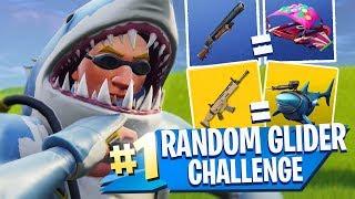 RANDOM GLIDER CHALLENGE!! - Fortnite Battle Royale!