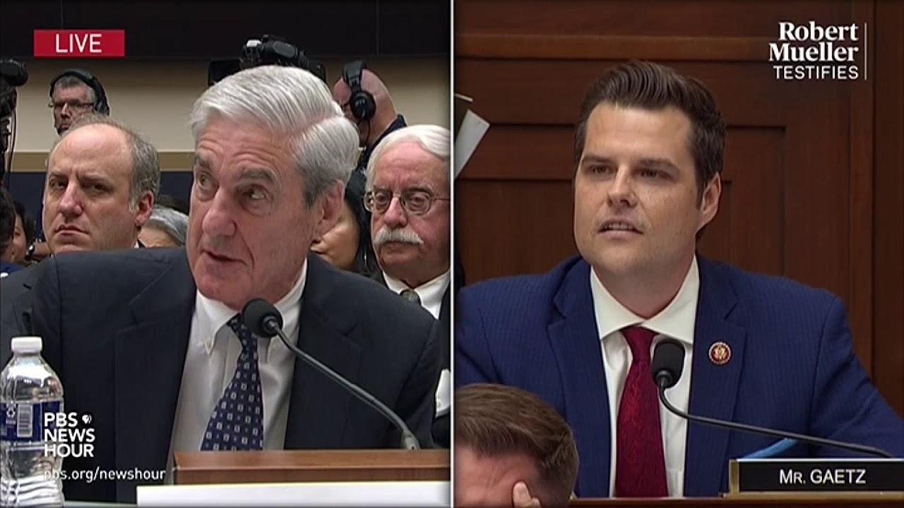 WATCH: Rep. Matt Gaetz's full questioning of Robert Mueller   Mueller testimony