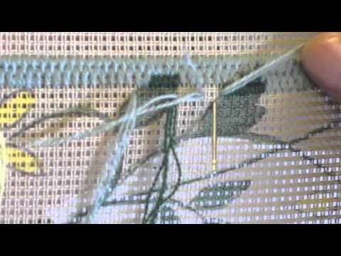 Comment faire le point gobelin en tapisserie au point for Comment enlever de la tapisserie