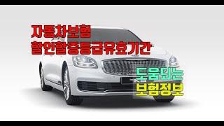 도움되는 보험정보(자동차보험할인할증등급유효기간)