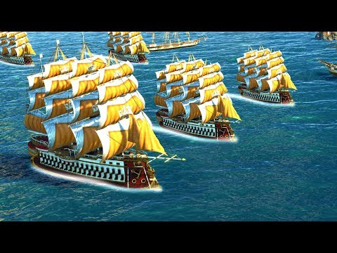 Building A Fleet Of The BIGGEST BATTLESHIPS In The Game To Win In Anno 1800!