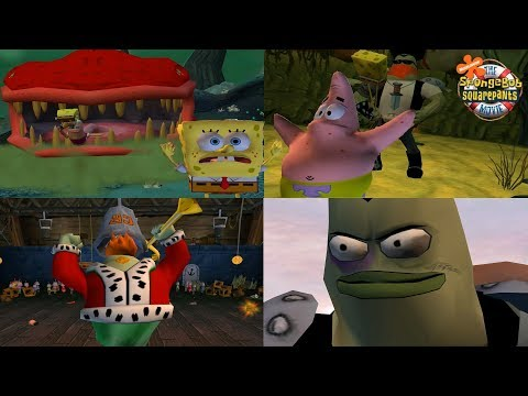 SpongeBob Movie Game - All Bosses (No Upgrades, No Damage) (HD 1080p)