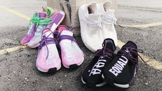 "Adidas x Pharrell Human Race NMD: ""Black, Pink, Coral - Holi Pack"" - Review & On-Feet"