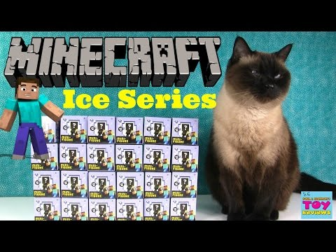Minecraft ICE Series 5 Blind Box Figures Opening Unboxing Toy Review | PSToyReviews