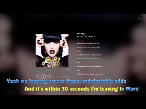 Jessie J - Price Tag lyrics video HD 1080p