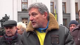 Андрей Пальчевский на митинге после освобождения Саакашвили / Politeka Online