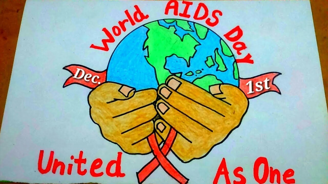 How To Draw World Aids Day Drawing World Aids Day Poster World Aids