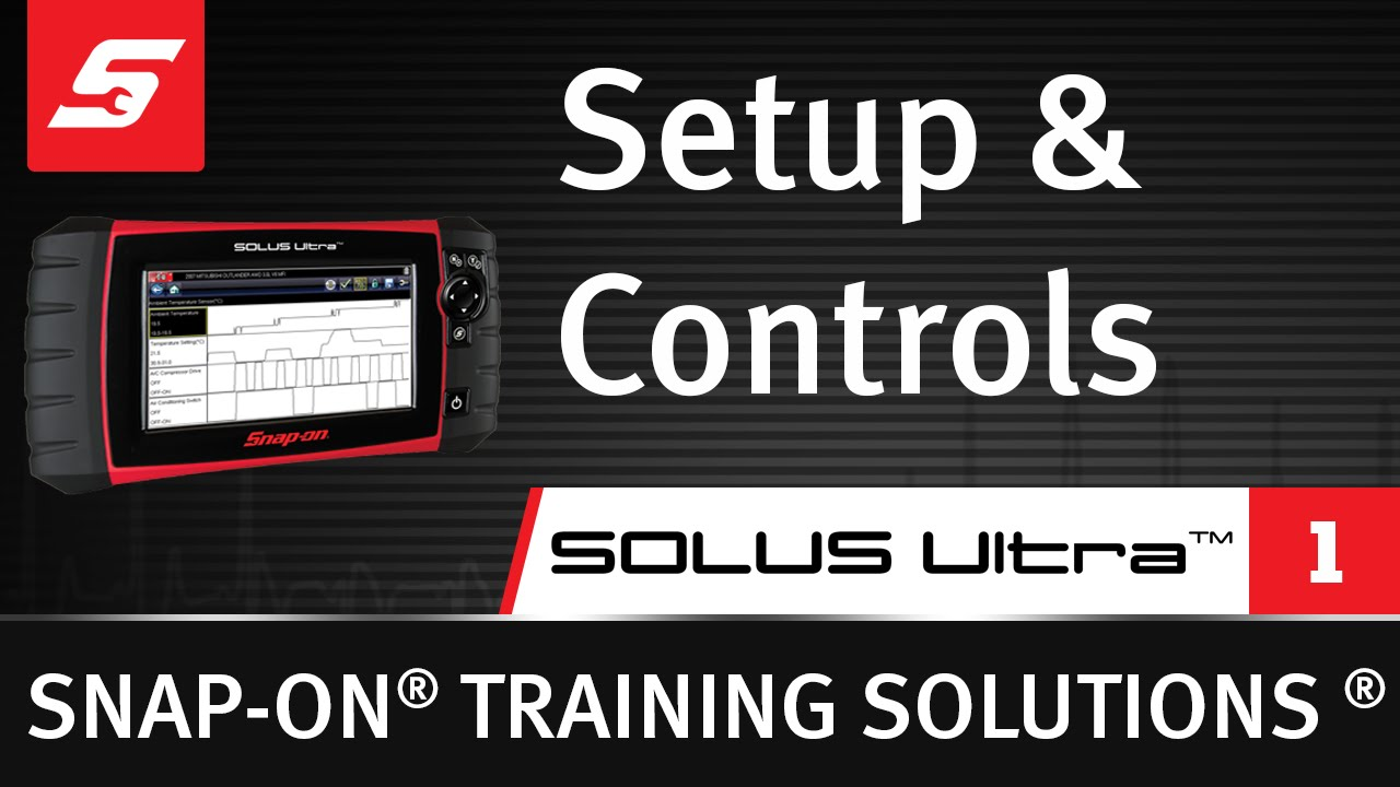 setup controls solus ultra pt 1 8 snap on training rh youtube com Snap-on MG725 Parts Snap-on Modis Cable