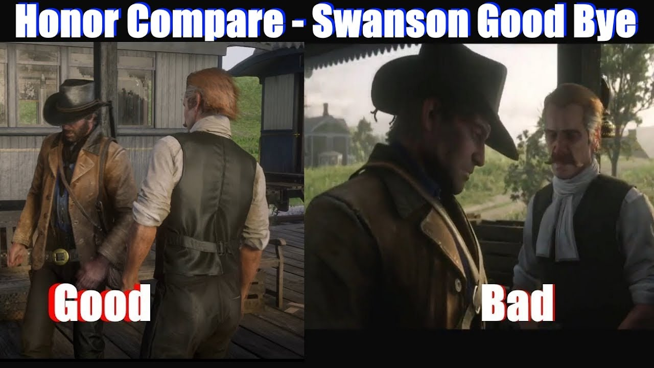 Download RDR2 Good Arthur vs Bad Arthur Reverend Swanson Leaving - Red Dead Redemption 2 PS4 Pro