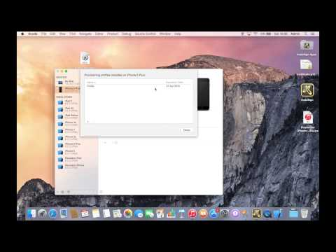 How to install a provisioning profile on Mac OS X - YouTube