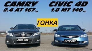 CAMRY 2.4 vs HONDA CIVIC 4D .ГОНКА !!! Х...