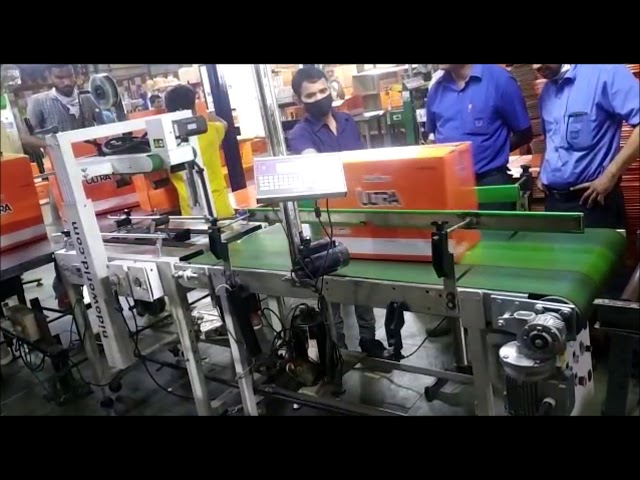 Semi Automatic Carton Sealer + Outfeed Belt Conveyor With Thermal Ink Jet (TIJ) Printer