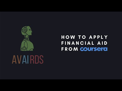 How to apply financial aid from Coursera
