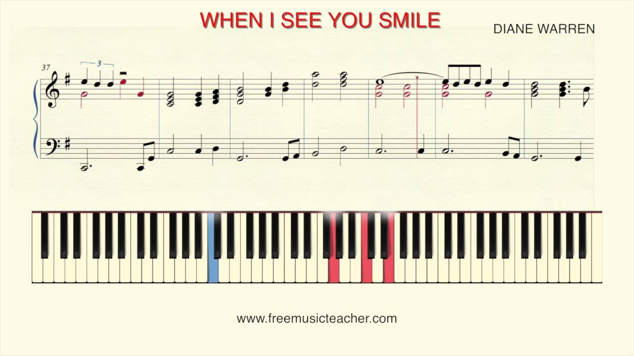 How to play piano when i see you smile by bad english youtube how to play piano when i see you smile by bad english hexwebz Choice Image