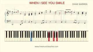 "How To Play Piano: ""When I See You Smile"" by Bad English"