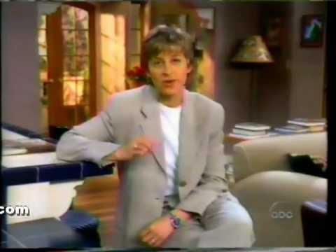 1994 ELLEN DEGENERES commercial for ABC Soap Operas