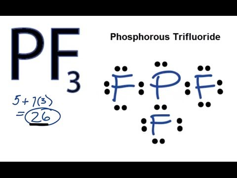 PF3 Lewis Structure - How to Draw the Lewis Structure for PF3
