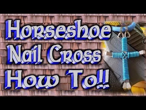 How To Make A Horseshoe Nail Cross