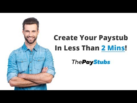 Learn How To Create A Paystub In Less Than 2 Minutes !