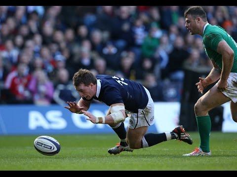 Jamie Heaslip tackle denies Stuart Hogg Try, Scotland v Ireland, 21st March 2015