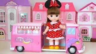 Лялька Рожевий Кемпінг Вагона Велосипед Намет Іграшка Соди