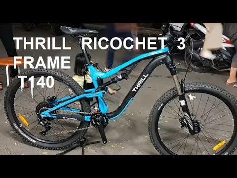 Sepeda Thrill Ricochet 3 T140 2018 All Mountain Full Suspension Bike