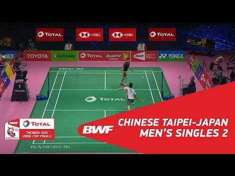 Thomas Cup | MS2 | WANG Tzu Wei (TPE) vs Kenta NISHIMOTO (JPN) | BWF 2018