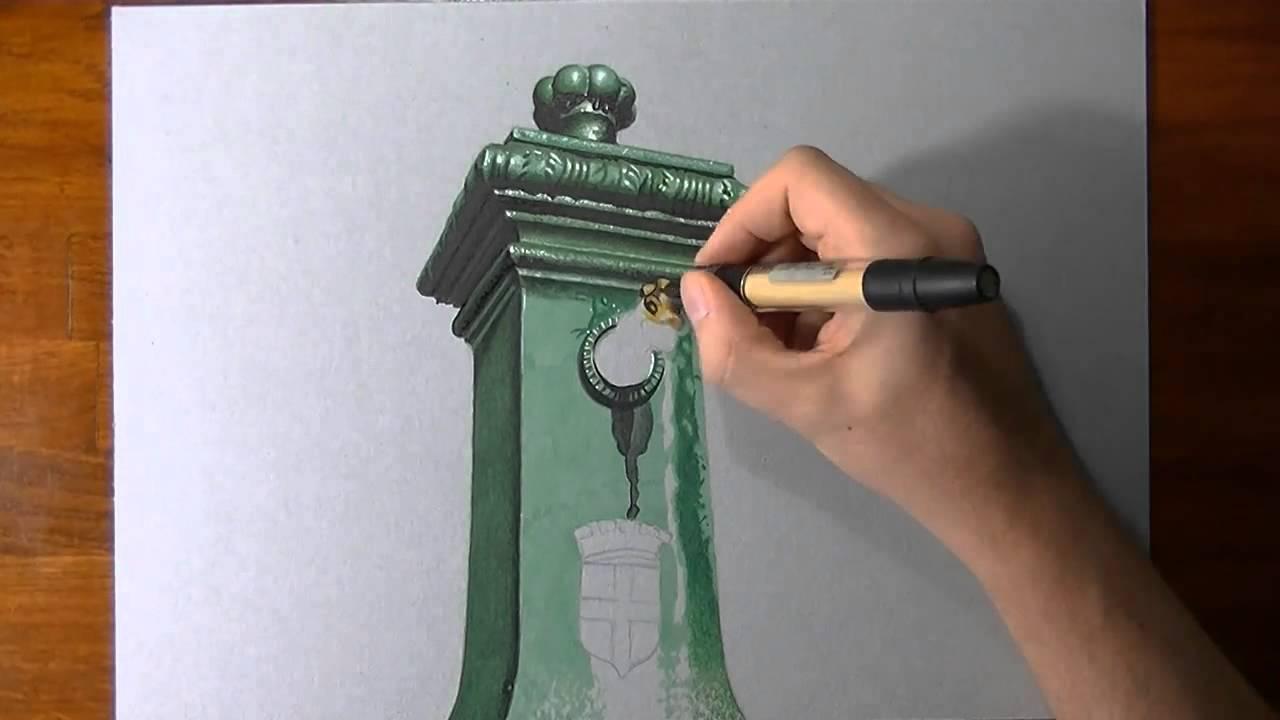 Pazzesco disegno 3d su carta standouter youtube for Disegno 3d free