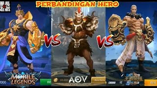 Arena Of Valor Vs Heroes Arena Vs Mobile Legends Vs King Of Glory