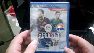 FIFA 14 - PS VITA - UNBOXING E GAMEPLAY