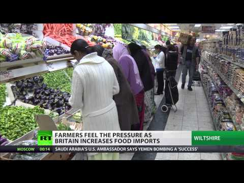 Farmers feel the pressure as Britain increases food imports