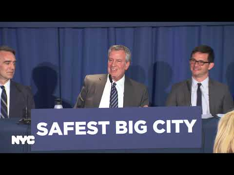 Mayor de Blasio Holds Media Availability on Crime Statistics Mp3