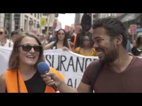 Tchô l'info Manifestation contre les primes assurances maladies (Genève 2018)