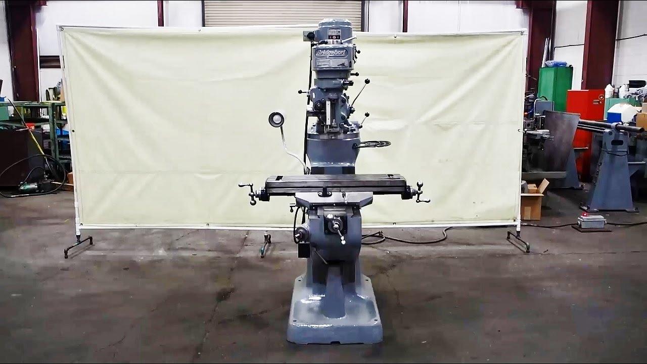 Bridgeport 1 Hp 9 X 32 Vertical Milling Machine Youtube