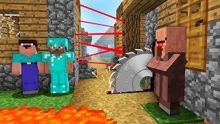 VILLAGER BUILT THE MOST DANGEROUS VILLAGE - Noob vs Pro in Minecraft battle