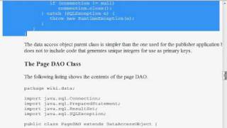 Java Web Programming with Eclipse: Wiki Application, Persistence Classes