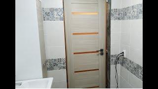 как сделать дверь в ванную своими руками