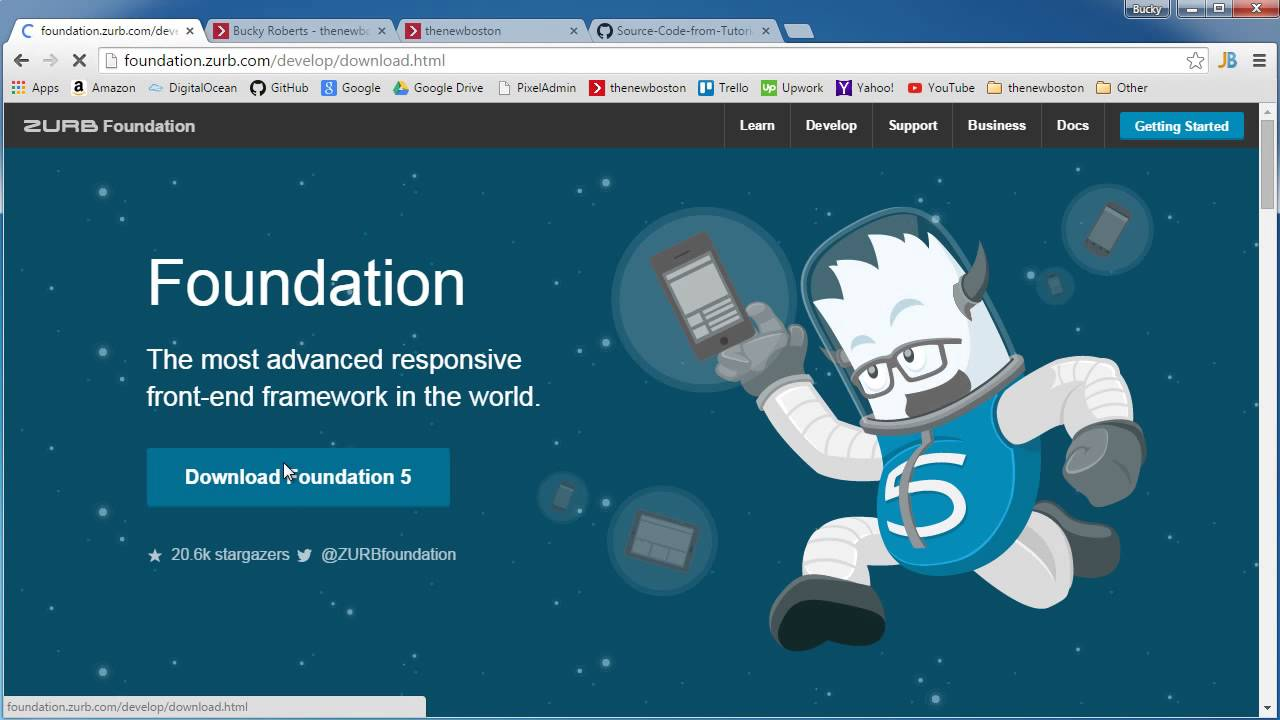 Foundation For Responsive Web Design Tutorial 1 Getting Started Youtube