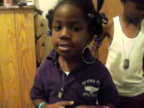 *5 year old* singing Playa cardz right-Keyshia Cole ft. 2pac