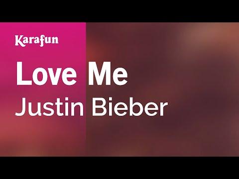 Karaoke Love Me - Justin Bieber *