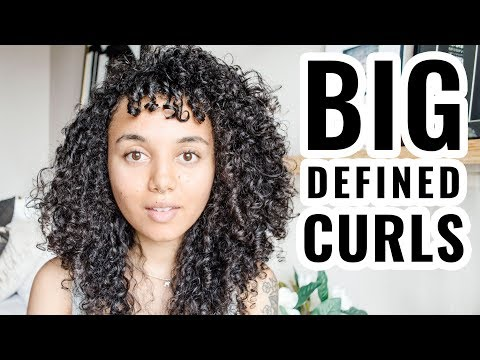 How to get BIGGER HAIR with Products You Already Own | Big Curly Hair Routine for Fine Hair