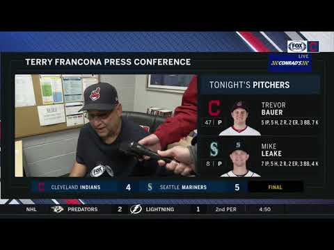 Terry Francona on Trevor Bauer's outing & Tribe series finale loss in Seattle