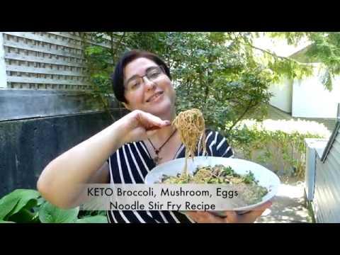 keto-broccoli,-mushroom,-eggs-noodle-stir-fry-recipe- -cooking-with-victoria
