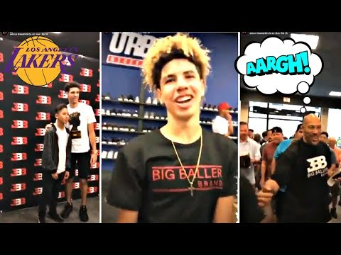 LaMelo Ball, Lonzo Ball And LaVar Ball At Big Baller Brand Fan Signing Event
