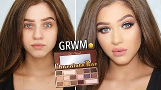 Too Faced Chocolate Bar Palette Makeup Tutorial & Get Ready With Me