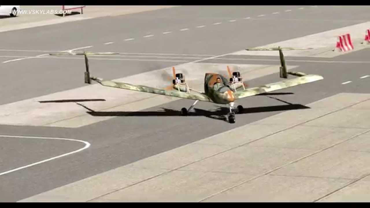Vskylabs Ultralight Aircraft Short Take Off From Wooden