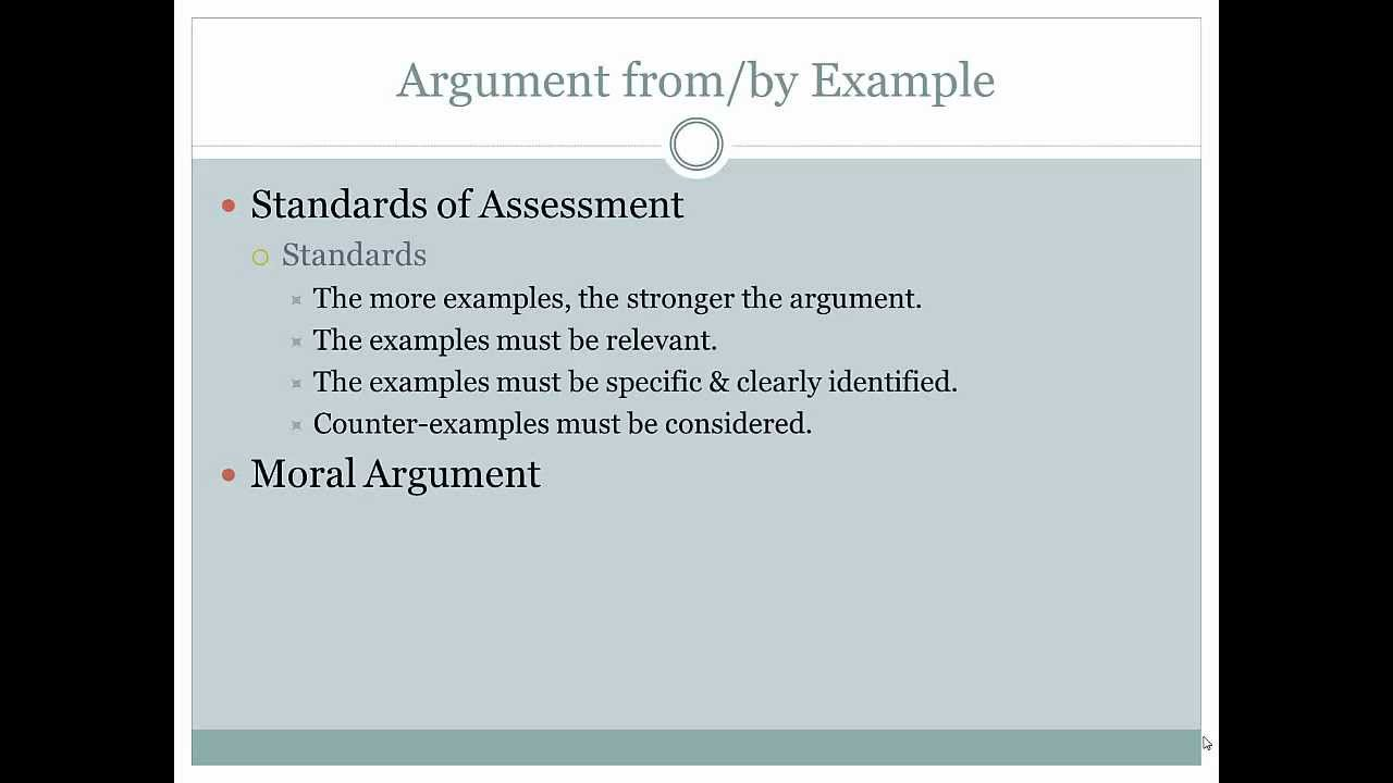 ethics argument by example ethics argument by example