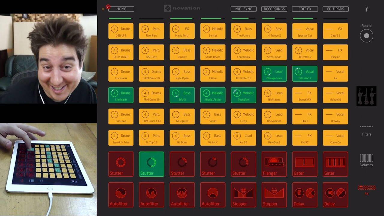 Application IPad pour faire du DJ : Launchpad, de Novation - www.lamachineamixer.com