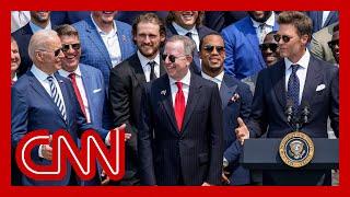 Tom Brady cracks joke about election denial at White House