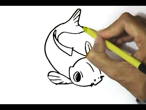 How To Draw Koi Fish In Easy Steps For Children Kids Beginners